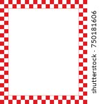 Vector Red Checkered Frame  ...
