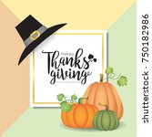 thanksgiving template design.... | Shutterstock .eps vector #750182986