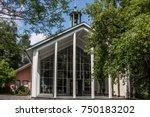 cemetery chapel with belfry   Shutterstock . vector #750183202