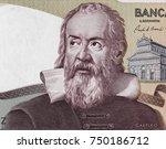 galileo galilei portrait on...   Shutterstock . vector #750186712