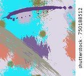 splash brush strokes seamless... | Shutterstock .eps vector #750188512