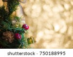 abstract blur christmas tree... | Shutterstock . vector #750188995