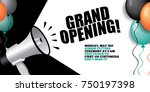 grand opening background with... | Shutterstock .eps vector #750197398