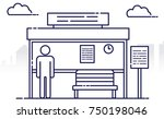 people and others are waiting... | Shutterstock .eps vector #750198046