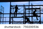 Woker Silhouette On Scaffold...