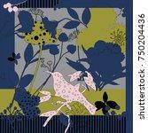 summer  autumn colors. silk... | Shutterstock .eps vector #750204436