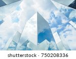 mirror reflect sky | Shutterstock . vector #750208336