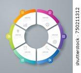infographics template 6 options ... | Shutterstock .eps vector #750211312