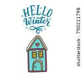 isolated vector winter... | Shutterstock .eps vector #750211798