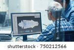 two senior aircraft engineers...   Shutterstock . vector #750212566