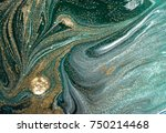 marbled green abstract... | Shutterstock . vector #750214468