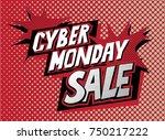 ciber monday sale banner in pop ...   Shutterstock .eps vector #750217222