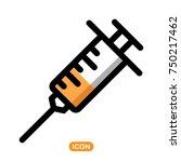 syringe vector icon. healthcare ... | Shutterstock .eps vector #750217462