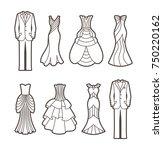 die cut silhouettes of wedding