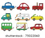 cartoon car icon | Shutterstock .eps vector #75022060