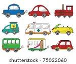 cartoon car icon | Shutterstock .eps vector #75022060