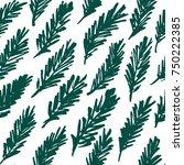 hand drawn seamless pattern... | Shutterstock .eps vector #750222385