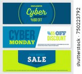 cyber monday sale banner... | Shutterstock .eps vector #750223792