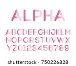 vector of modern stylized font. ...   Shutterstock .eps vector #750226828