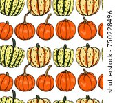 vector seamless pattern with ... | Shutterstock .eps vector #750228496