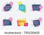weekend sale banner  special...   Shutterstock .eps vector #750230605