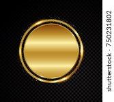 vector circle frame. shining... | Shutterstock .eps vector #750231802