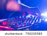 in selective focus of pro dj... | Shutterstock . vector #750235585