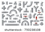 set of  details pipes different ... | Shutterstock .eps vector #750238108