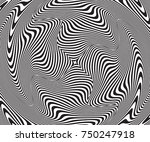 abstract optical illusion.... | Shutterstock .eps vector #750247918
