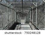 steel gate walkway. walkway... | Shutterstock . vector #750248128