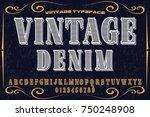 font alphabet vector typeface... | Shutterstock .eps vector #750248908