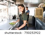 portrait of a gorgeous cook... | Shutterstock . vector #750252922