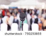 business conference. corporate... | Shutterstock . vector #750253855