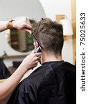 man at the hair salon | Shutterstock . vector #75025633