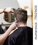 man at the hair salon | Shutterstock . vector #75025633