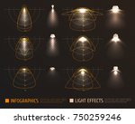 light effects infographics with