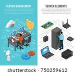 datacenter vertical banners... | Shutterstock .eps vector #750259612