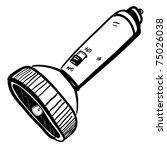 flashlight sketch | Shutterstock .eps vector #75026038