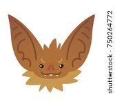 cute bat head. vector... | Shutterstock .eps vector #750264772