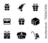 package icons set | Shutterstock .eps vector #750267496