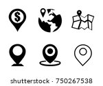 navigation icons set | Shutterstock .eps vector #750267538