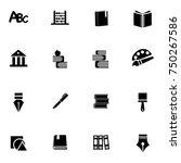 school icons set | Shutterstock .eps vector #750267586