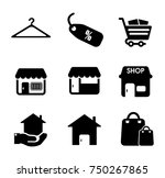 sale icons set | Shutterstock .eps vector #750267865