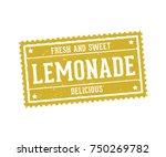 lemonade  lemon juice beverage... | Shutterstock .eps vector #750269782