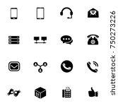 communication icons set   Shutterstock .eps vector #750273226