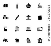education icons set | Shutterstock .eps vector #750273316