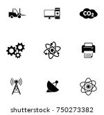 electronic icons set | Shutterstock .eps vector #750273382