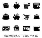 commerce icons set   Shutterstock .eps vector #750274516