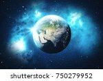 3d rendering world globe from...   Shutterstock . vector #750279952