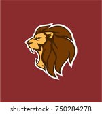 angry roaring lion head vector...   Shutterstock .eps vector #750284278